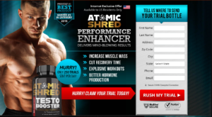 Atomic Shred Testosterone Booster | Testo Booster Ingredients