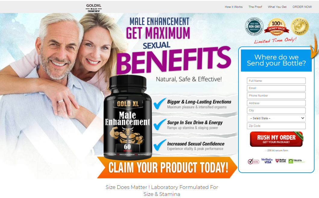 Gold XL Male Enhancement Reviews® *Gold XL* Does Its Really Works?