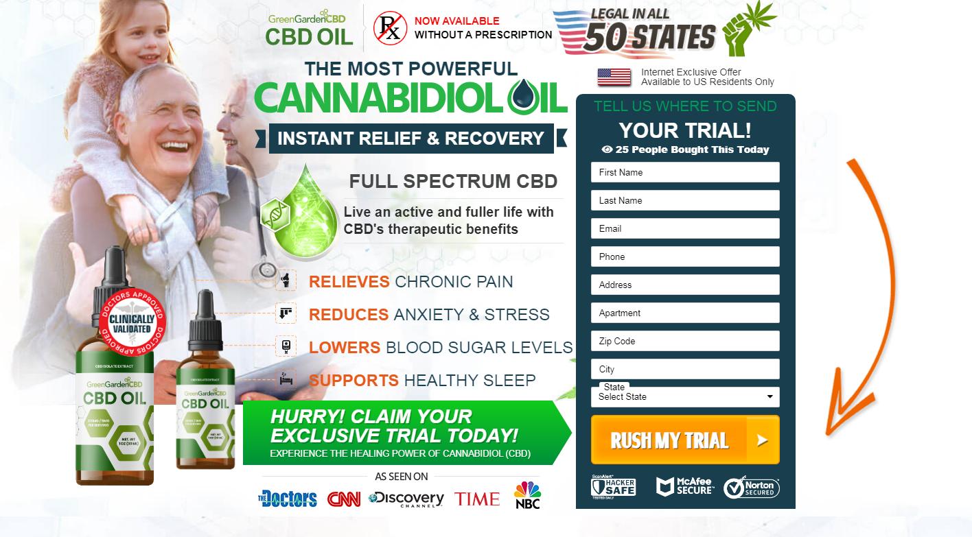 Green Garden CBD Oil *2021* Fuller Life With CBD's therapeutic Benefits!