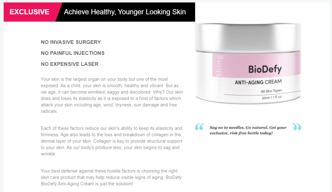 BioDefy Skincare Cream Reviews (Modify 2021) Does Its Really Works?