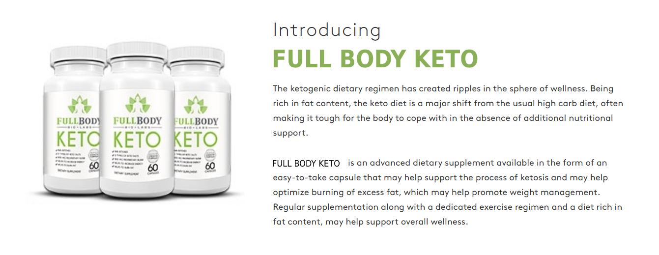 "Full Body Keto ""100% Best Full Body Keto Pills"" Price, Scam, Ingredients?"