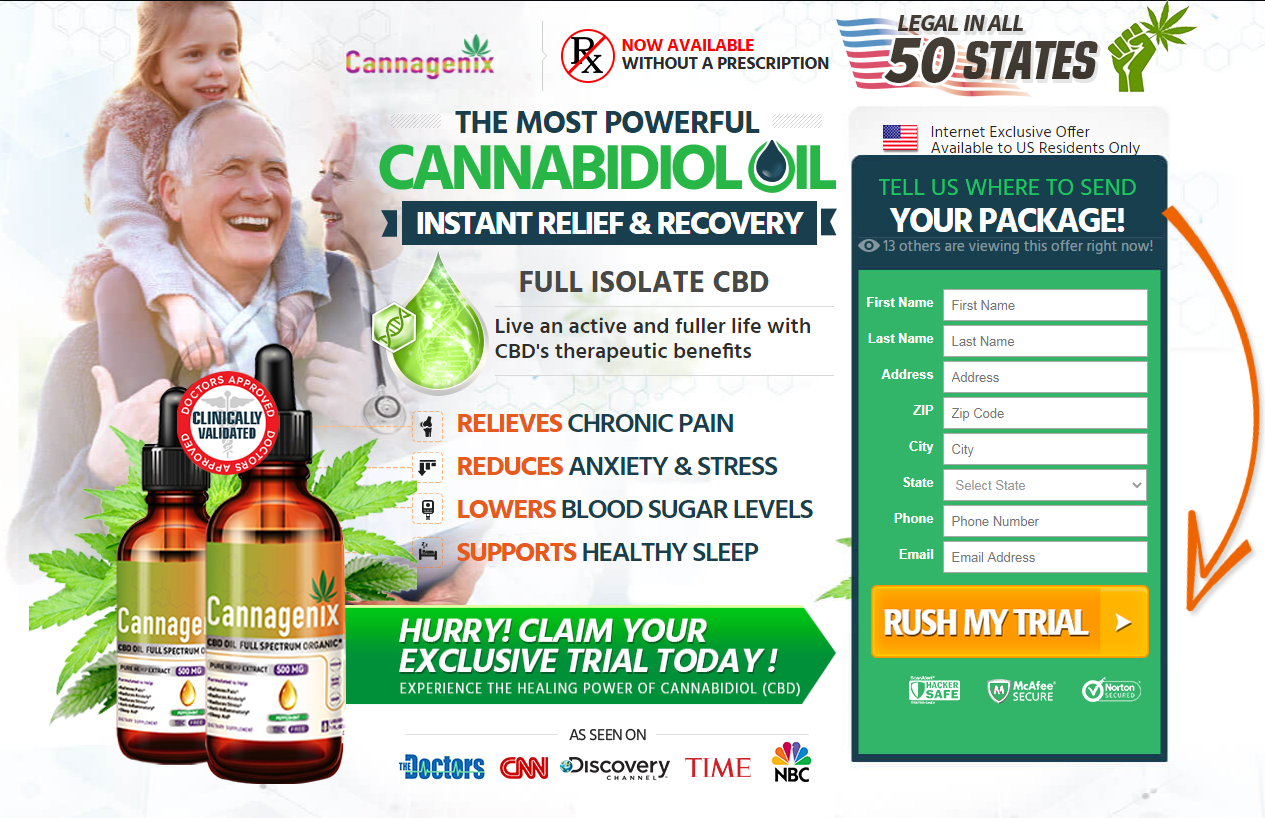 "Cannagenix CBD Oil® ""100% Legit Hemp Oil"" Price, Ingredients, Reviews?"