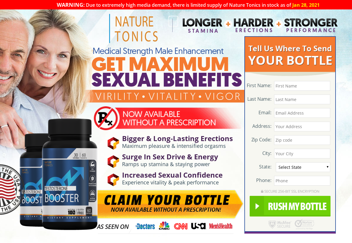 Nature Tonics Testosterone Booster [2021] Increasing Your Sex Potency?
