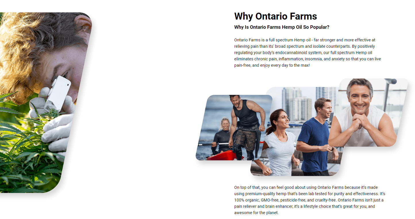 Ontario Farms CBD Oil - Works Fast & Doesn't Show Up On Drug Tests!