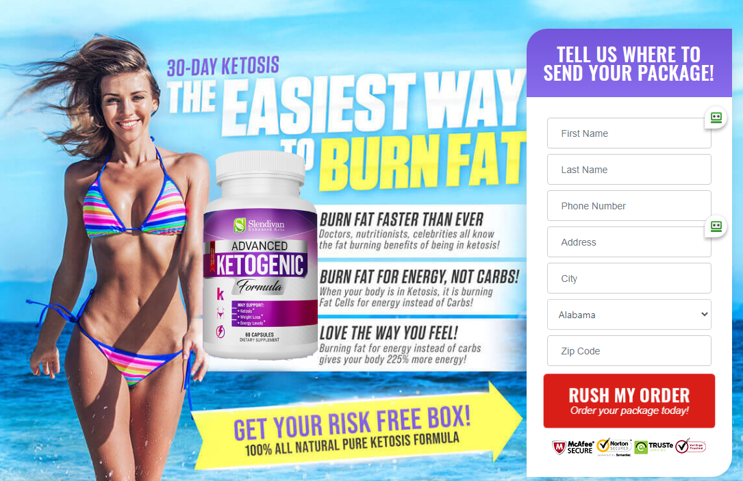 Slendivan Enhanced Keto Reviews [New 2021] Fast Fat Burning Formula!