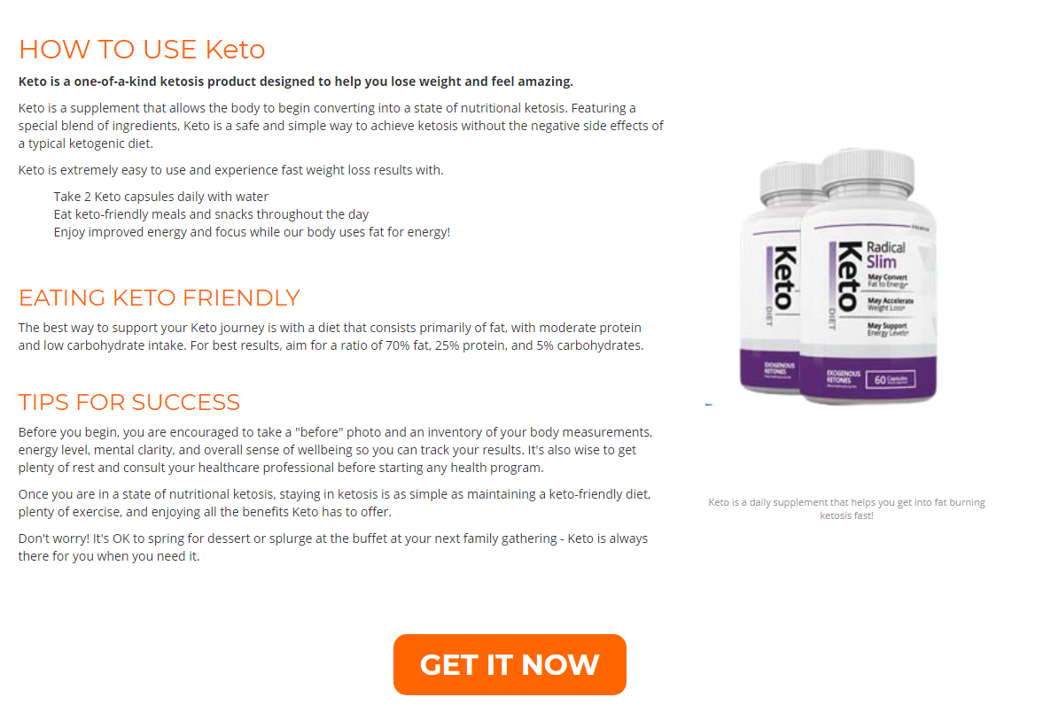 """Radical Slim Keto """"REVIEWS & RESULTS"""" Does Its Really Works?"""