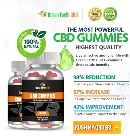 "Green Earth CBD Gummies ""Pros & Cons"" Price, Benefits, Reviews?"